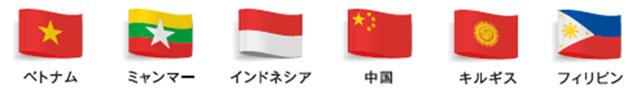 在籍する通訳者の国一覧